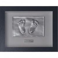 OPT29 - Contemporary 10x8'' Single Frame - 2 Raised Impressions - Hands or Feet - About £85