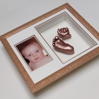 Glitter 12x10'' Double Rose Gold Frame