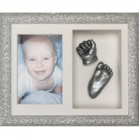 Glitter 10x8'' Double Silver Frame