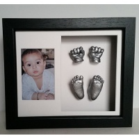 Luxury Hardwood 12x10'' Double Black Frame