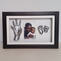 Luxury Hardwood 16x10'' Single Frame Baby Casting Kit