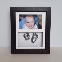 Luxury Hardwood 10x8'' Double Dark Chocolate Frame