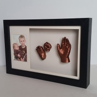 Luxury Hardwood 16x10'' Double Dark Chocolate Frame