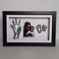 Luxury Hardwood 16x10'' Single Dark Chocolate Frame