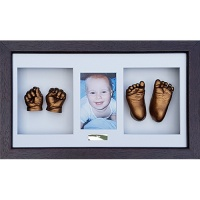 Luxury Hardwood 18x10'' Triple Dark Chocolate Frame