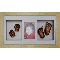 Luxury Hardwood 18x10'' Triple Natural Frame