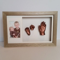 Luxury Hardwood 16x10'' Double Oak Frame