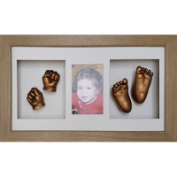 Luxury Hardwood 18x10'' Triple Oak Frame