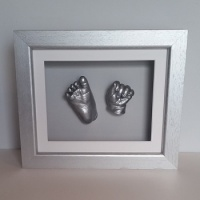 Luxury Hardwood 10x8'' Single Silver Frame