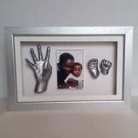 Luxury Hardwood 16x10'' Single Silver Frame
