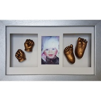 Luxury Hardwood 18x10'' Triple Silver Frame