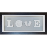 Deep 26x11'' Black LOVE Frame (with pine box)
