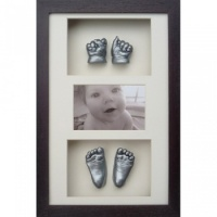 Classic 16x10'' Triple Photo Frame Baby Casting Kit