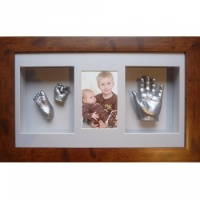 Deep 18x10'' Triple Rustic Brown Frame