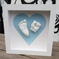 Contemporary 8x8'' Square Heart Frame Baby Casting Kit