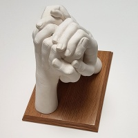 Size 4 Display Plinth - For Family Hands Casts - 16.2 x 21cm