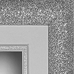 Glitter 16x10'' Double Silver Frame