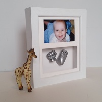 Luxury Hardwood 10x8'' Double Photo Frame Baby Casting Kit