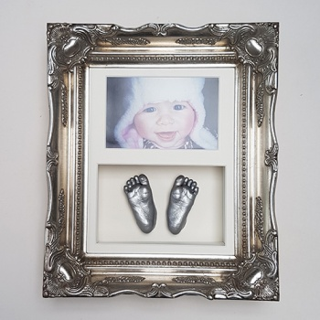 Luxury Vintage 10x8'' Double Platinum Frame