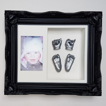 Luxury Vintage 12x10'' Double Black Frame