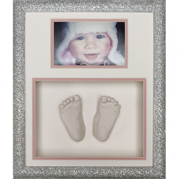 Glitter 12x10'' Double Silver Frame