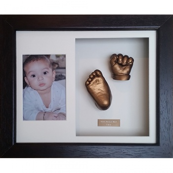 Luxury Hardwood 12x10'' Double Frame Baby Casting Kit