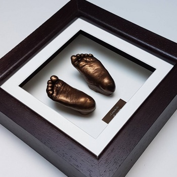 Luxury Hardwood 8x8'' Square Dark Chocolate Frame
